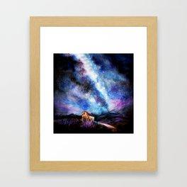 Tekapo Milky Way Framed Art Print
