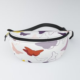 Colorful Butterfly Migration Fanny Pack