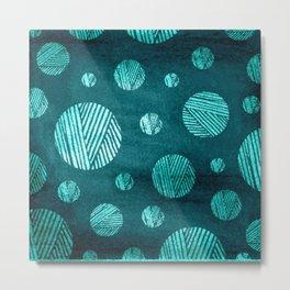 Knitting Yarn Pattern Metal Print