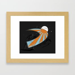 Ninja Slice II - Color Framed Art Print