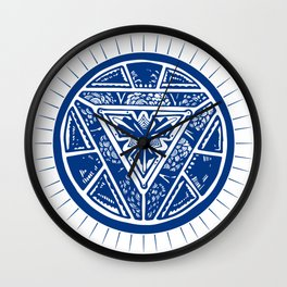 Art reactor great cosplayers iron costume shirt Wall Clock