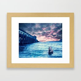 The Collision of Fire and Ice Framed Art Print