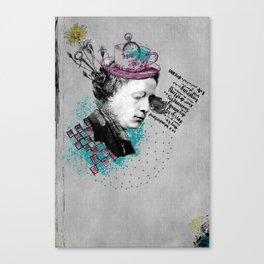 Lewis Carroll Alice on My Mind Canvas Print