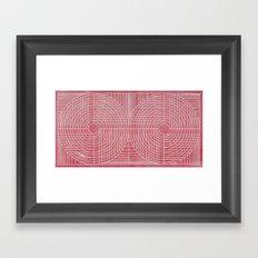 Robotic Boobs Red Framed Art Print