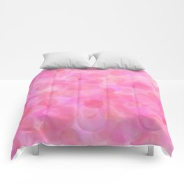 Pink Blush Dots Pattern Comforters