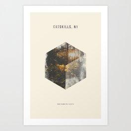 Minimalist Travel Poster - Catskills, NY Art Print