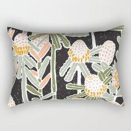 Red Honeysuckle & Mountain Banksias  Rectangular Pillow