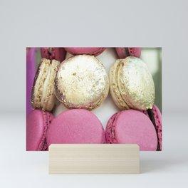Gold and Pink Macarons Mini Art Print