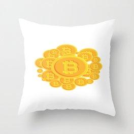 Bitcoins Throw Pillow