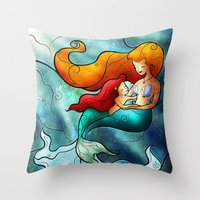 mandie manzano Throw Pillows featuring I Remember Love by Mandie Manzano