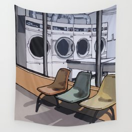 Coin Laundry Wall Tapestry
