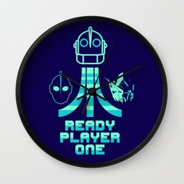Neon Player One Wall Clock