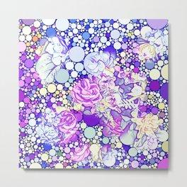 Bubble Flower Mix 4 Metal Print