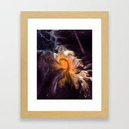 Interstellar Galaxy Framed Art Print