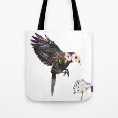 Hummingbird Watercolour Silhouette Tote Bag