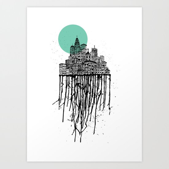 City Drips Art Print