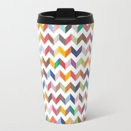 Aztec Geometric Chevron Pattern Travel Mug