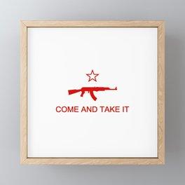 Come and Take It AK47 Red Framed Mini Art Print