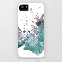 Shining Bright - Abstract Mixed Media Painting iPhone Case