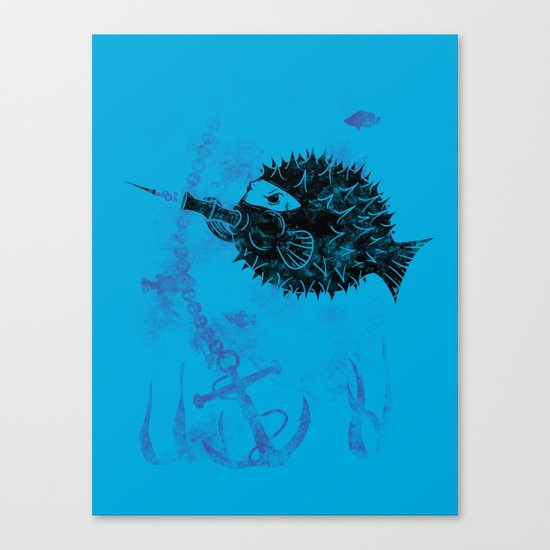 Blowgun Fish Canvas Print