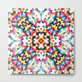Rainbow Skittles Kaleidoscope Print Metal Print