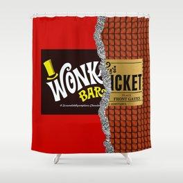 Willy Wonka Bar Shower Curtain