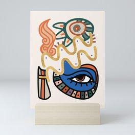 Aquarius - Abstract Zodiac Sign Mini Art Print