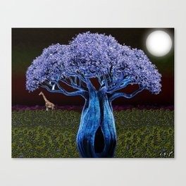 Violet Blue Baobab Canvas Print