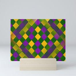 Harlequin Mardi Gras pattern Mini Art Print