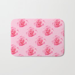 Pink Rose Swirly Petals Bath Mat