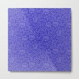 Tudor Gardens Blue Purple Metal Print