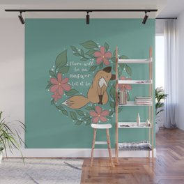Let It Be Foxy Florals Wall Mural