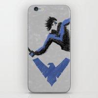 nightwing iPhone & iPod Skins featuring Nightwing by dudesweet