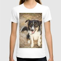 border collie T-shirts featuring Border Collie by Paw Prints By Jamie