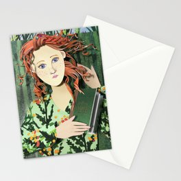 Red Reader Stationery Cards