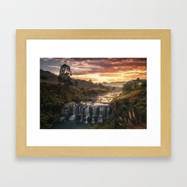Fire & Water Framed Art Print