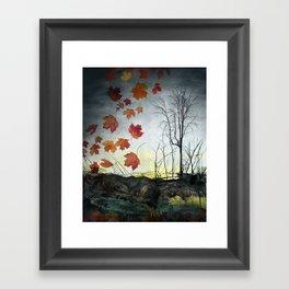 October (Falling) Framed Art Print
