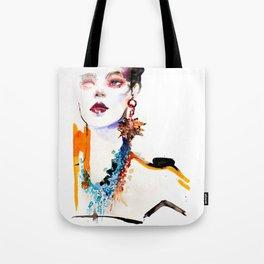 Fashion illustration Gaultier Tote Bag