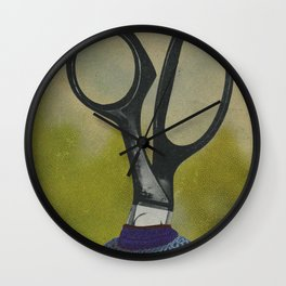 Scissors Portrait Wall Clock