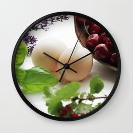 Fresh from the farm and the garden Wall Clock