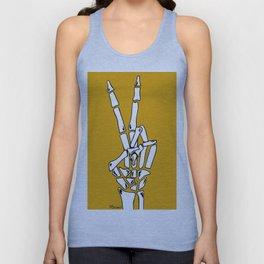 Peace and Love - pop Catrina bone hand Unisex Tank Top