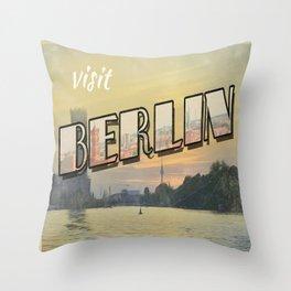 vintage Berlin Throw Pillow