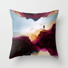 Learning from the past Throw Pillow