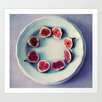 fruits Art Prints featuring fruits  by Claudia Drossert