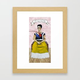 Frida Kahlo with Dr. Suess Quote #2 Framed Art Print