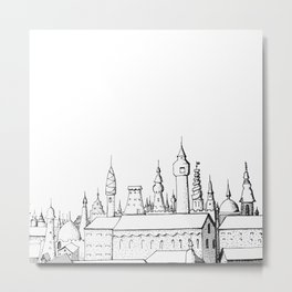 fabulous city . art . black and white Metal Print