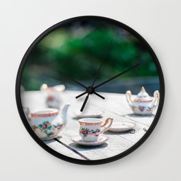 Tea at High Noon Wall Clock