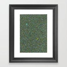 Blue/Green Dot Color Design Framed Art Print