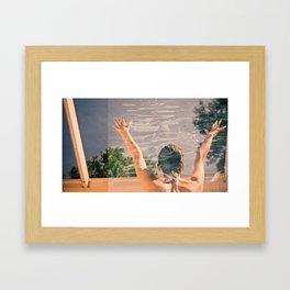 She's Split Framed Art Print
