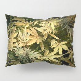 Yellow Cannabis Family Pillow Sham